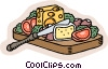 Vector Clipart image  of a food and dining/cheeses