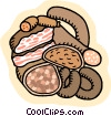 Food and dining sausages Vector Clipart picture