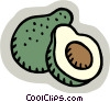 Vector Clip Art graphic  of a coconut