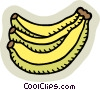 Vector Clipart image  of a Bananas