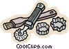 Vector Clip Art graphic  of a kitchen utensils