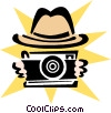 Vector Clip Art graphic  of a taking a picture