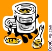 Vector Clipart graphic  of a business/trades tools