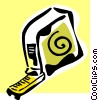 Vector Clip Art image  of a tape measure