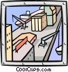 Vector Clipart graphic  of a industry/factory