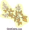 Vector Clipart picture  of a plant with flower buds