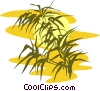 bamboo against sunset Vector Clipart graphic