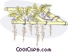 hanging plants Vector Clip Art picture