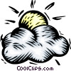 Weather/sun and clouds Vector Clip Art picture