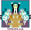 Board meeting Vector Clipart graphic