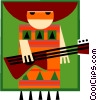 Vector Clipart picture  of a Latin style musician
