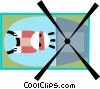 helicopter pilot Vector Clip Art picture