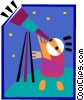 Vector Clip Art image  of an astronomer