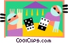 gamblers Vector Clip Art graphic