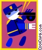 traffic police Vector Clipart illustration