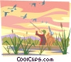 Duck hunting Vector Clipart picture