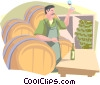 Vector Clipart image  of a winemaker