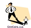 Vector Clipart illustration  of a standing in his shadow