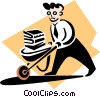 Vector Clipart picture  of a wheelbarrow full of work