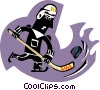 Vector Clipart image  of a hockey player