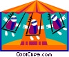Vector Clipart graphic  of a circus swing