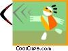 Vector Clipart image  of a boomerang