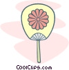 Vector Clipart picture  of a parachute