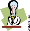 business / bright ideas Vector Clip Art image