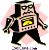 Vector Clipart graphic  of a 1950's Robot