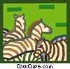 zebras Vector Clipart picture