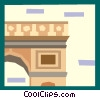 Vector Clipart picture  of a European architecture