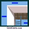 Vector Clip Art image  of an architecture