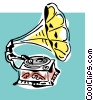 Vector Clipart graphic  of a old phonograph