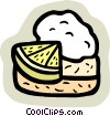 Vector Clip Art image  of a food and dining/pie