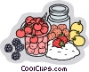 Food and dining/making preservatives Vector Clipart picture