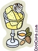 Vector Clipart graphic  of a Bread pudding dessert