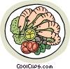 Shrimp cocktail Vector Clipart graphic