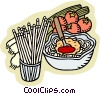 Vector Clipart illustration  of a food and dining/Italian