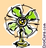 Vector Clipart picture  of a fan