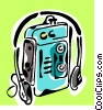 Vector Clip Art picture  of a cassette player