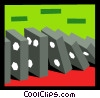 Vector Clip Art graphic  of a dominoes