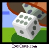 Vector Clip Art picture  of a dice