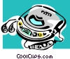 Vector Clipart image  of a CD player