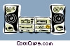 Vector Clipart picture  of a stereo system