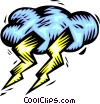 Vector Clip Art graphic  of a Weather/lightning