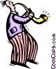 blowing somebody else's horn Vector Clipart picture