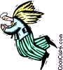 Vector Clipart illustration  of a business angel