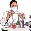 Health care research Vector Clipart illustration