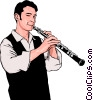 clarinetist Vector Clipart illustration