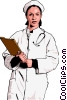 Vector Clip Art image  of a health care research